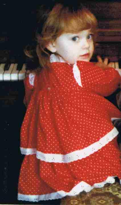 Piano Teacher Christina as A Little Girl
