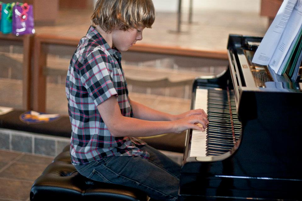 Piano Student at Recital